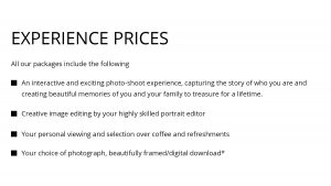 Photo Shoot Packages No.1